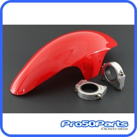 (#ZN871) Monkey Z50 Front Fender with CNC Alloy Holder